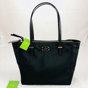New! Kate Spade Nylon Shoulder Bag Black Gold